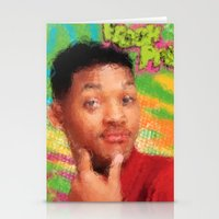fresh prince Stationery Cards featuring Will Smith - Fresh Prince by Alice Z.