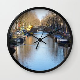 Amsterdam canal 2 Wall Clock