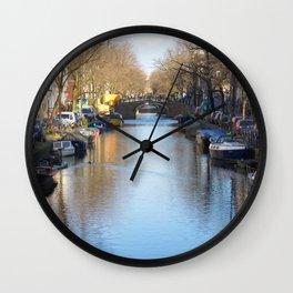Amsterdam canal 2 Wall Clock