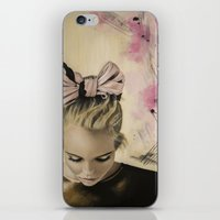 charmaine olivia iPhone & iPod Skins featuring Olivia by Claire Lee Art