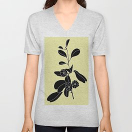 Goat's Foot (also known as Mauve Convolvulus, Beach Potato Vine, and Morning Glory) - Ipomoea pes-ca Unisex V-Neck