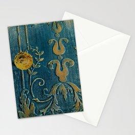 Original Art - A Piece of Versailles Blue & Gold Gilding Art Block Stationery Cards