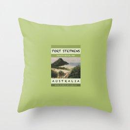 Travel Poster Zenith Beach Art Print Throw Pillow