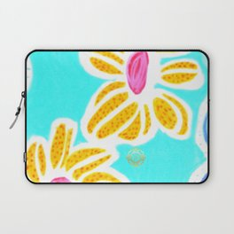 San Pol beach flowers- yellow and blue  Laptop Sleeve