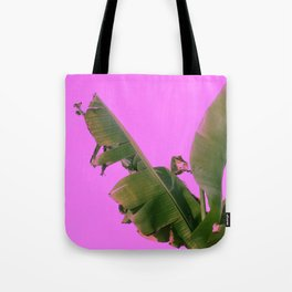 Large Wild Palm Leaves Grow From Tropical Island Ground Tote Bag