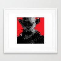 django Framed Art Prints featuring django by jensuisdraws