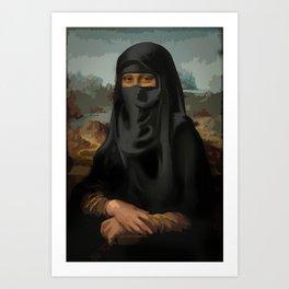 Niqab - Monnalisa Art Print