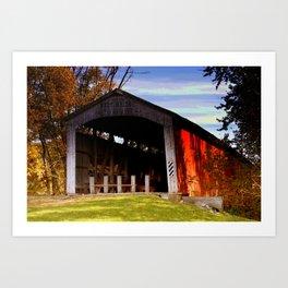 Neet Covered Bridge ~ Rockville, Indiana Art Print