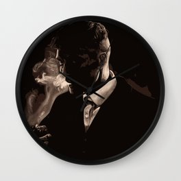 Tommy Shelby Smoking a Cigarette Wall Clock