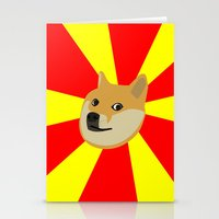doge Stationery Cards featuring Doge by Subtle Tee
