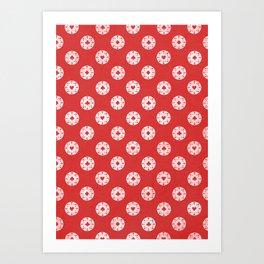 Poker Dots Art Print