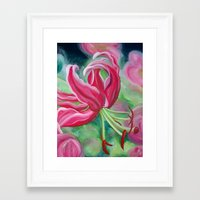 lily Framed Art Prints featuring lily by Beth Jorgensen