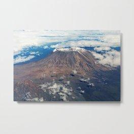 Mount Kilimanjaro, Tanzania Metal Print