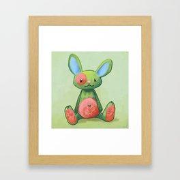 Le lapin qui aimait les fleurs Framed Art Print