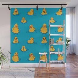 Distressed Duckies Wall Mural