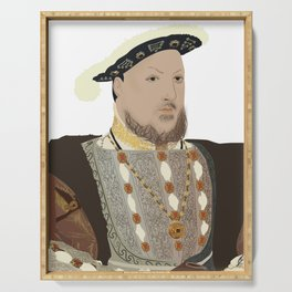Henry VIII of England - transparent background Serving Tray