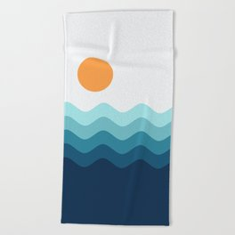 Abstract Landcape 14 Portrait Beach Towel
