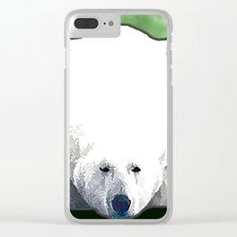 Polar Bear - Green Clear iPhone Case