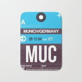 MUC Munich Luggage Tag 1 Bath Mat