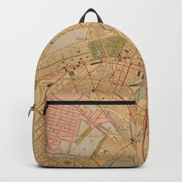 Vintage Map of Boston MA (1902) Backpack