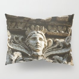Uptown Chicago Architectural Detail Stone Face  Pillow Sham