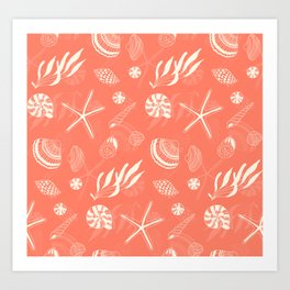 Sea shells patten Art Print