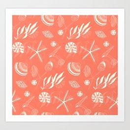 Sea shells patten Art Print