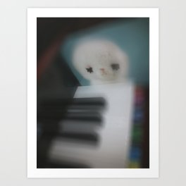 Little Piano Player Art Print