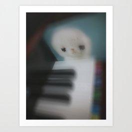 Little Piano Player Art Print