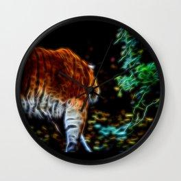 Tiger Fractal animal Fractal tiger Wall Clock