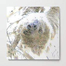 fascinating altered animals - Sloth Metal Print