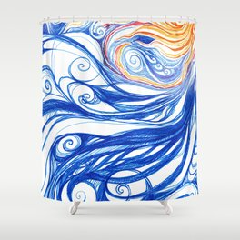 Winter Storm Shower Curtain
