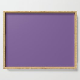 Solid Color Pantone Chive Blossom 18-3634 Purple Serving Tray