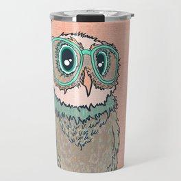 Owl wearing glasses II Travel Mug