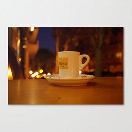 Night coffee - 10.30.2017 - Lisbon - Espresso - Bica Canvas Print
