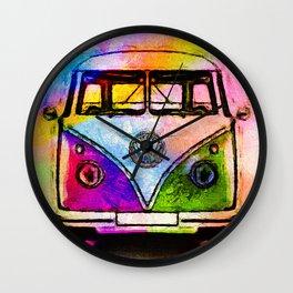 Hippie Adventures Wall Clock