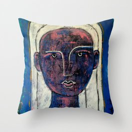 Pondering Dreams - It is all an illusion Painting by Robert EROD artist art Throw Pillow