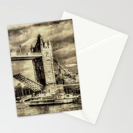 Tower Bridge and the Dixie Queen vintage Stationery Cards