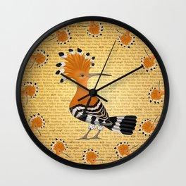 Punky Upupa Wall Clock