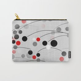 Winterberry - Abstract - Black, Gray, Red, White Carry-All Pouch
