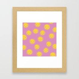 Little sunny sunshine love summer sky girls pink Framed Art Print