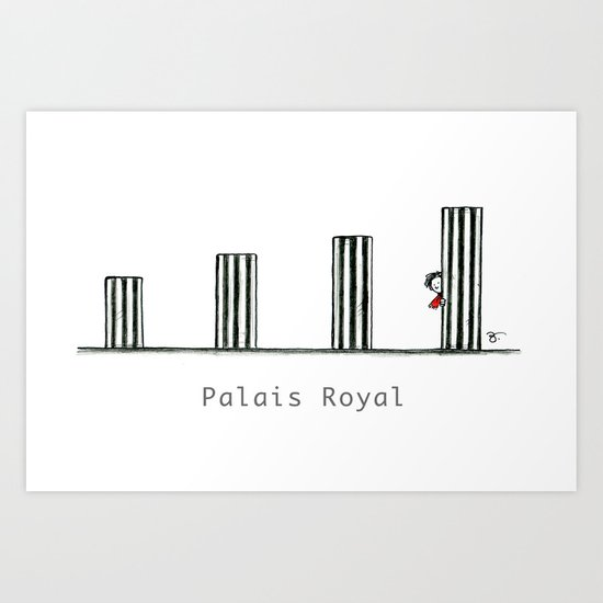 A Few Parisians: Palais Royal by David Cessac Art Print