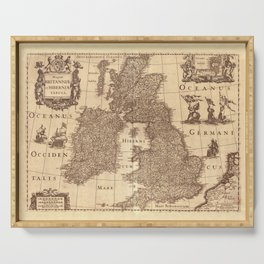 Map Of Great Britain 1631 Serving Tray