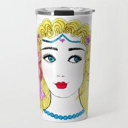 Girl with Blue Eyes Travel Mug