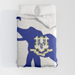 Connecticut Republican Elephant Flag Comforters