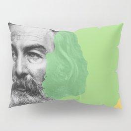 Walt Whitman portrait yellow green Pillow Sham