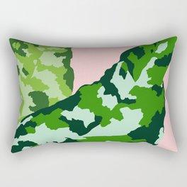 Aglaonema pictum tricolor Rectangular Pillow