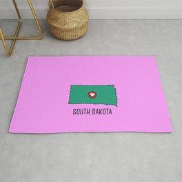 South Dakota State Heart Rug