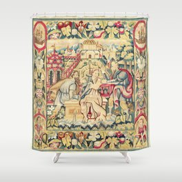 Susanna and the Elders 16th Century German Tapestry Print Shower Curtain
