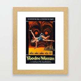Vintage Film Poster - Voodoo Woman Framed Art Print